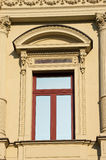 Window in old ornamented house Stock Images