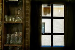 Window of an old pub royalty free stock image