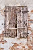 Window of an old ruined farmhouse. A window of an old ruined farmhouse stock photo