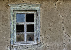 Window in an old ruinous house Stock Photo