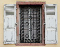 Window with old shutters Stock Photography