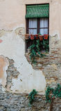 Window in old Spanish stone building Stock Image