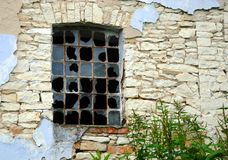 Window in an old stone building Stock Images