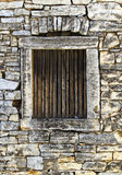 Window of an old stone house Royalty Free Stock Image