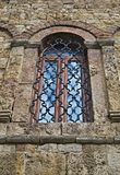 Window on old stone monastery in Serbia Royalty Free Stock Image