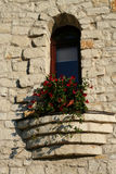 Window in an old stone wall Royalty Free Stock Photos
