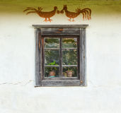 Window of the old traditional Ukrainian house Royalty Free Stock Image