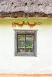 Window of the old traditional Ukrainian house Royalty Free Stock Photos