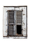 Window with old wood shutters Stock Photos