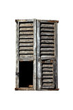 Window with old wood shutters Royalty Free Stock Images