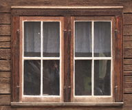 Window In Old Wooden Building Royalty Free Stock Photos