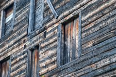 Window in an old wooden house royalty free stock photos