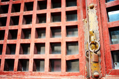 Window of old wooden house Stock Photos