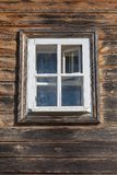 Window in an old wooden house Royalty Free Stock Image