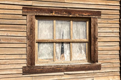Window of an old wooden house Royalty Free Stock Photos
