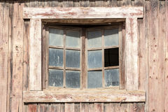 Window of an old wooden house Stock Image