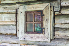 Window of old wooden house. Royalty Free Stock Photo