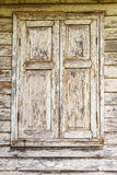 Window of old wooden house, Thai style, closeup Royalty Free Stock Images