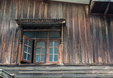 The window of the old wooden house Royalty Free Stock Photos