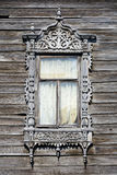 Window of old wooden house Stock Photo