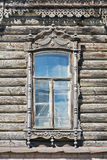 Window of old wooden house Stock Images