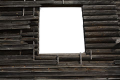 Window on the old wooden wall Stock Image