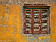 Window . Window  of one old house on the gold island south of Cairo Royalty Free Stock Photos