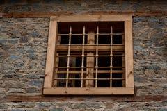 Window at one old house in Kovachevitsa village, Bulgaria Royalty Free Stock Image