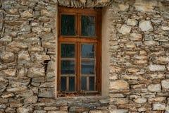 Window at one old house in Kovachevitsa village, Bulgaria Stock Photo
