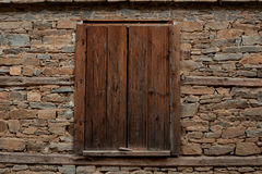 Window at one old house in Kovachevitsa village, Bulgaria Stock Images