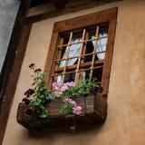 Window at one old house in Kovachevitsa village, Bulgaria Stock Photography