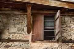 Window at one old house in Kovachevitsa village, Bulgaria Stock Photos