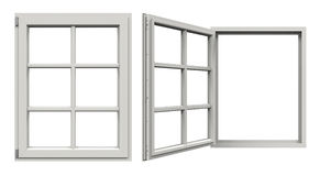 Window Open and Closed Stock Photo