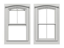 Window Open and Closed Royalty Free Stock Image