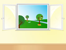Window open showing beautiful Stock Photo