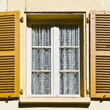Window with Open Shutter Stock Images