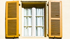 Window with Open Shutter Stock Photo