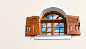 Window with open shutters Royalty Free Stock Image