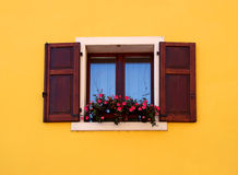 A window with open shutters Royalty Free Stock Photography