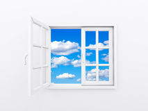 Window opening to sky Royalty Free Stock Image