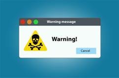 Window operating system error warning. Illustration on white isolated background. royalty free illustration