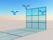 Window Of Opportunity In Flight Royalty Free Stock Photography