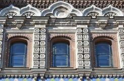 Window of orthodox cathedral Spas na Krovi Royalty Free Stock Photos