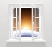 Window in other galaxy Stock Images