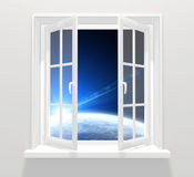Window in other galaxy Stock Photography