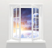 Window in other galaxy Stock Photos