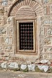 Window on Ottoman empire building stock image