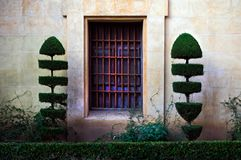 A window out of nowhere. Seville City design royalty free stock image
