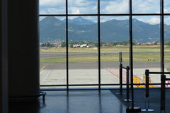 Window over the runway Royalty Free Stock Photo