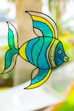 Window painting of fish Royalty Free Stock Images
